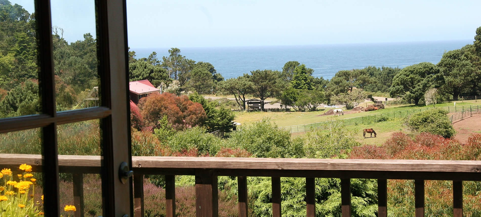 mendocino hotel with ocean view at Stanford Inn