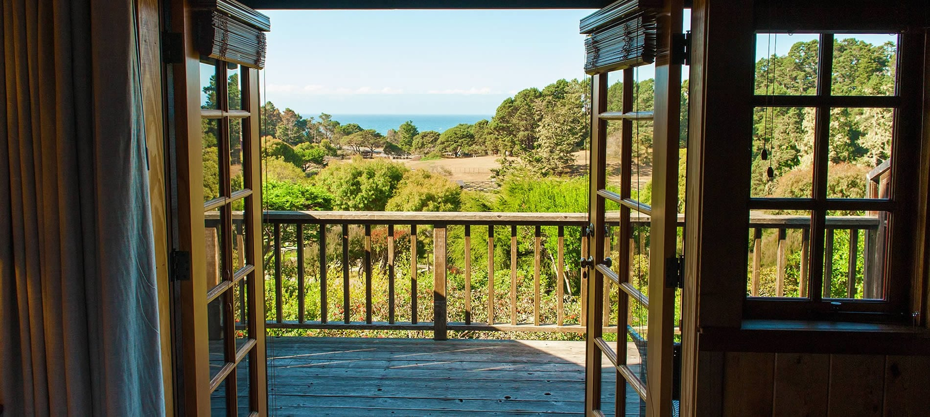 garden view to ocean view from stanford inn mendocino hotel & resort