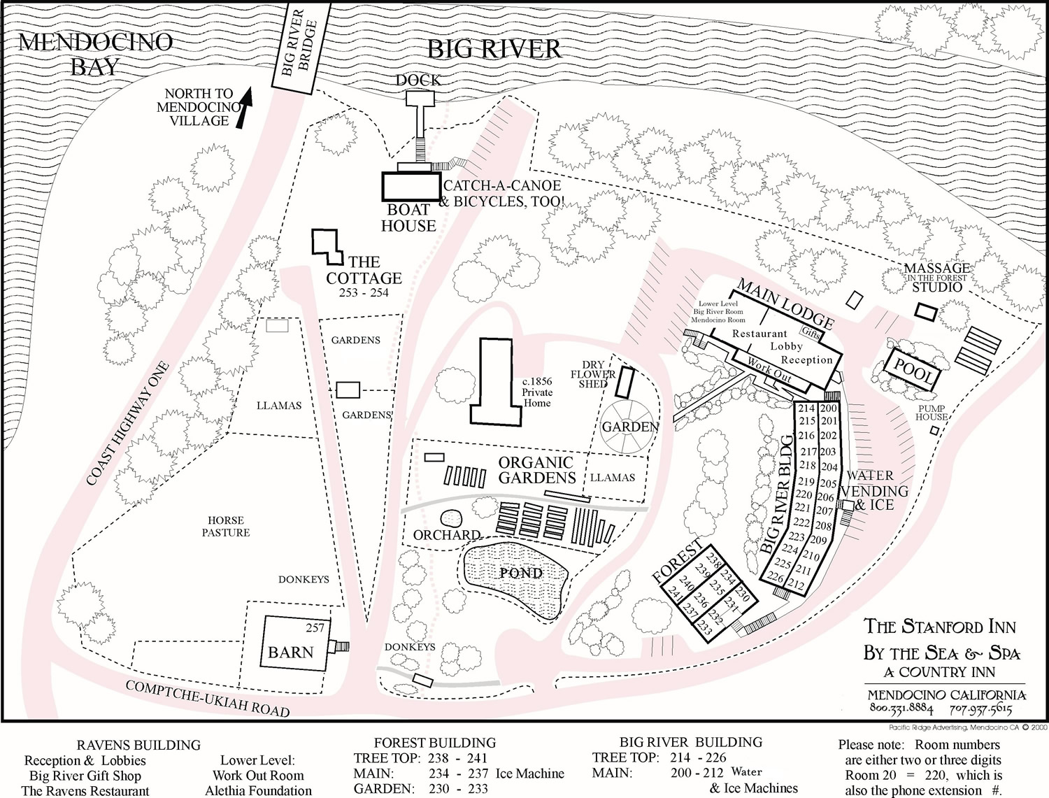 the stanford inn property map