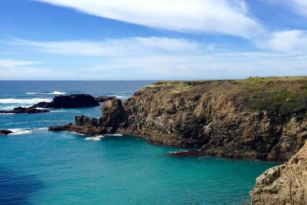 mendocino vacation packages: bluff view of ocean