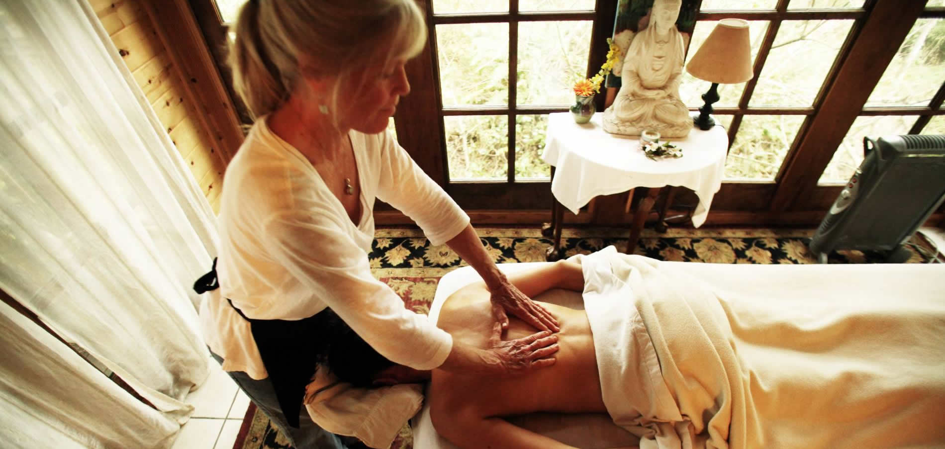 mendocino spa services massage in the forest